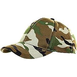 Woodland Combat US Army Camo camuflaje gorra de béisbol Gorro Tapa camuflaje Uso getarnt tarnung elástico Tocado Ejército Militar Airsoft # 18717