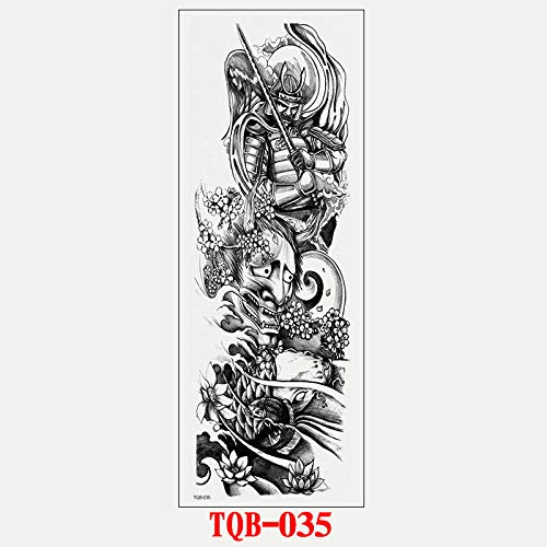 adgkitb Full-Arm Big Picture Tattoo Aufkleber TQB-035 17x48cm - 48cm Rennrad
