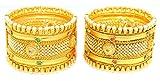 bollywood Traditional Fancy Designer Brecelet Kangan with Colorful Diamond and Pearl Border For Women, bollywood tradizionale raffinata Designer Bracciale con murrine diamante e perla borduere