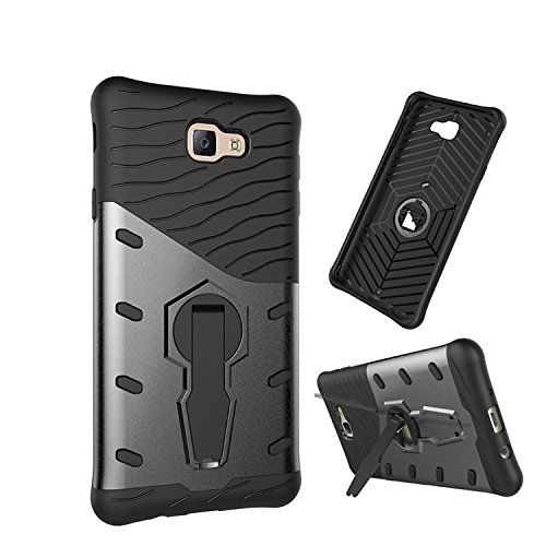 Chevron SAMSUNG Galaxy On Nxt / Samsung Galaxy J7 Prime Back Cover - Galaxy Black [Sniper 360° Rotate Stand Version 3.0 Ultimate Warrior Case] [Air Cushion Technology - Shock Proof] [Dual Layer Impact Protection Kick Stand] For SAMSUNG Galaxy On Nxt / Samsung Galaxy J7 Prime