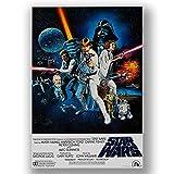 Box Prints Star Wars New Hope Filmfilm Vintage Retro Style Poster Leinwand Kunstdruck Bild Bild groß klein, Large 80x50cm (32