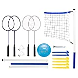 Franklin Sports Recreational Badminton und Volleyball Combo Set