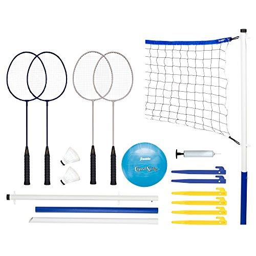 Franklin Sports Recreational Badminton und Volleyball Combo Set
