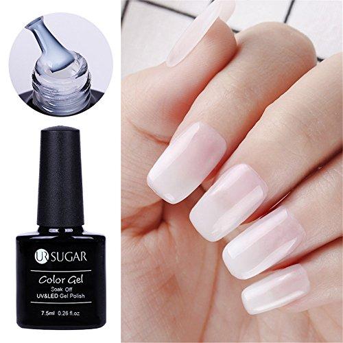 CoulorButtons Ur Sugar Vernis gel UV semi-transparent 5 ml Blanc opale