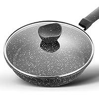 FIXD [0A92 Hogar Wok/Olla de Cocina, sartenes Maifan Stone Pan Antiadherente Steak Pan Cake Cocina de inducción de Cacerola Gas Universal Pan Omelette Pan 30cm Calibre