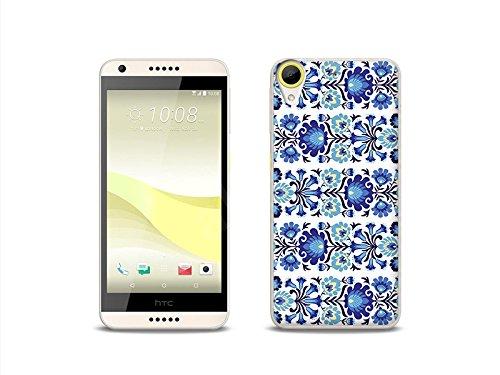 etuo HTC Desire 650 - Hülle Fantastic Case - Folkblumen - Handyhülle Schutzhülle Etui Case Cover Tasche für Handy