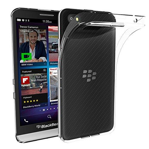 VGUARD Blackberry Z30 Hülle, Premium Hülle Tasche Schutzhülle Case Cover Transparent Klare Weiche TPU Silikon Gel Schutzhülle Bumper Löschen Back für Blackberry Z30