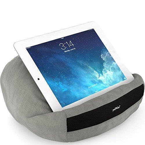 padRelax casual Grau iPad Halterung bis 10.5 Zoll, Made in Germany, für Bett, Sofa, Tisch und jedes Apple iPad, Samsung Galaxy Tab, eReader, Buch,.. (Casual Kopf)