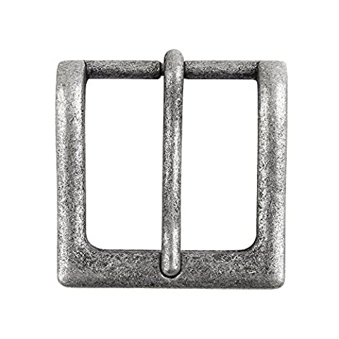 NPET 1PCS New Western Classical Solid Anti-silver Pin Horseshoe Buckles Needle Buckles Suitable For Snap Fit