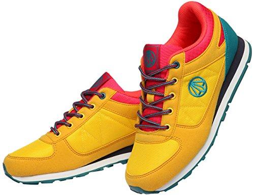 Paperplanes - 1312 mixte de suivi Sport Baskets à lacets de chaussures Jaune - jaune