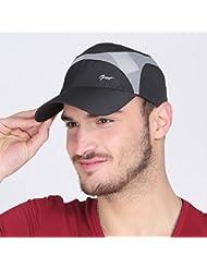 WF:sombrero de las señoras Corea del sombrero del verano de la marea masculina casquillo del sombrero del sol del sombrero del sol al aire libre femenina deporte gorra de béisbol del tejido transpirable ( Color : Negro )