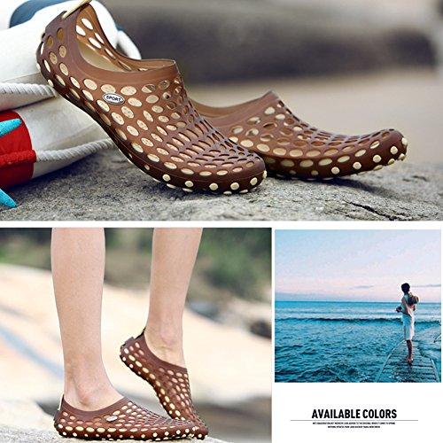 Outdoor Strandschuhe Paar Loch Schuhe Männer und Frauen Beiläufig Turnschuhe Anti-Rutsch Draussen Atmungsaktiv Strand Schuhe Khaki