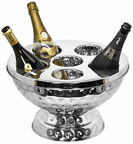Edzard - Sektkühler - Champagnerkühler - ROCKFORD - Edelstahl - gehämmert Höhe 25 cm