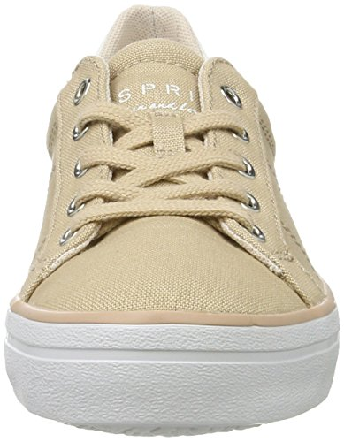 ESPRIT Damen Mindy Lace Up Sneaker Beige (275 Dusty Nude)