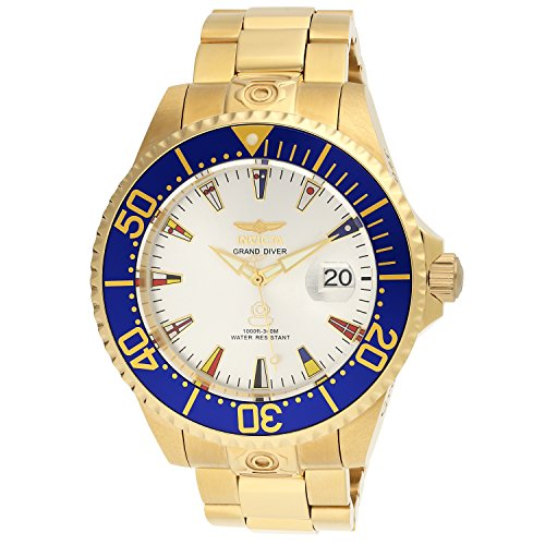 Invicta Men's 21325 Grand Pro Diver 47mm International Automatic Gold Stainless Steel Bracelet Watch image