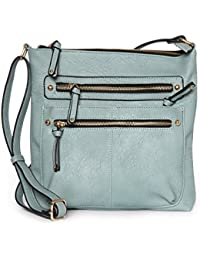 High Quality Faux Leather Large Top Zip Handbag Cross Body Bag