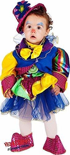 Kleinkind Zirkus Kostüm Clown - Fancy Me Deluxe Italienische Herstellung Baby Kleinkind farbenfrohe Mädchen Zirkus Clown Kostüm Kleid Outfit 0-24 Months - 2 Years