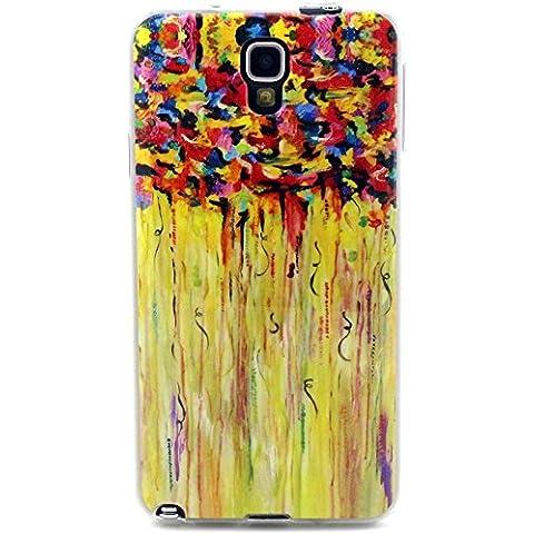 Voguecase TPU Funda de Silicona de Gel Carcasa Tapa Case Cover Para Samsung Galaxy Note 3 Lite Neo N7505 (Acuarela 07) + Gratis aguja de la pantalla stylus universales