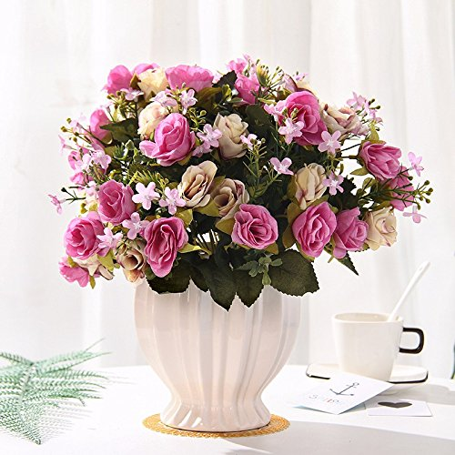 Emulation Blumen rose Seide blumentisch Blumen getrocknete Blumen Dekoration im Wohnzimmer Home Dekoration Pflanzen swing Teil 4