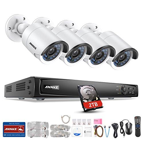 ANNKE 8CH 4MP Überwachungskamera System Set mit 4X 4MP PoE IP Wasserfeste Kamera überwachung und 8Kanal 6MP NVR 2TB HDD Überwachungssystem für Haus, Innen, Außen Sicherheitssystem (Video Security Samsung Systeme)
