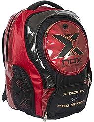 NOX Attack Pro P.1 Mochila de Pádel, Unisex Adulto, Rojo, Talla