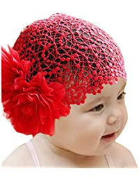 Voberry Baby-Girl's Infant Newborn Lace Flower Headband Elastic Hairband