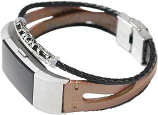 BZLine® Für Fitbit Charge 2 Armband, Charge 2 Armband Leder Ersetzerband Fitness Verstellbares Uhrenarmband für Fitbit Charge2