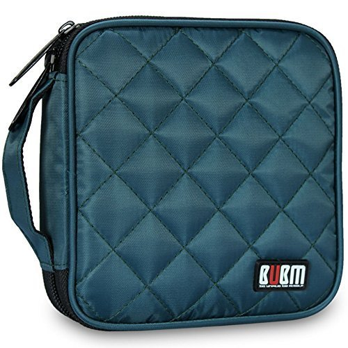 32 Capacity CD / DVD Wallet, 230D Space Twill Cover, Various Colors - Dark Blue