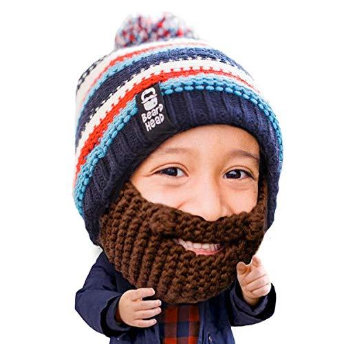 Beard Head Kinder Gromm Bartmütze – Lustige Strickmütze -
