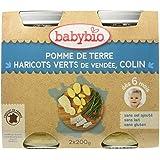 Babybio Pots Pomme de Terre/Haricots Verts du Val de Loire Colin 400 g -