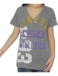 NCAA LSU Tigers femmes V-Neck T-Shirt (Vintage Look)