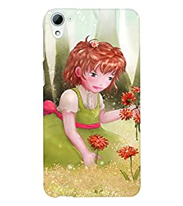 Fuson 3D Printed Girly Designer back case cover for HTC Desire 826 - D4318