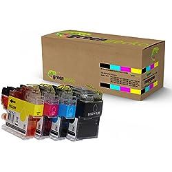 XL Tintenpatronen ersetzen Brother LC-3217 / LC-3219 für Brother MFC-J 5330, MFC J5335, MFC-J5730, MFCJ 6930 / Druckerpatronen schwarz, Cyan, Magenta, gelb