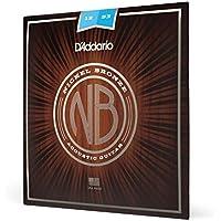 D\'Addario NB1253 - Cuerdas para guitarra acústica (6 cuerdas, níquel/bronce, talla 12-53), color