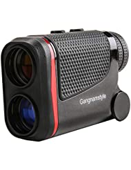 GangnamStyle Golf Entfernungsmesser, Golf-Rangefinder mit Flag-Lock/Abstand / Geschwindigkeit/Winkel / Höhenmessung, ±0.3M Präzision, 6-facher, für Golfsport, Jagd, Klettern, Bogenschießen