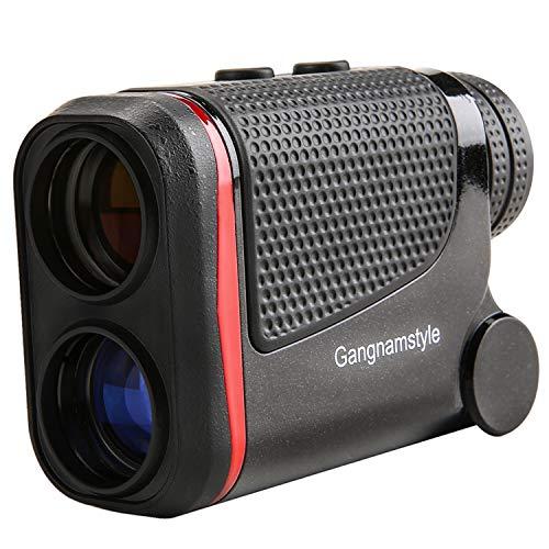 GangnamStyle Golf Entfernungsmesser mit Flag-Lock / Distanz / Geschwindigkeit / Winkel / Höhenmessung, ± 0,3 m Präzision, 6-fache Vergrößerung, Golf-Entfernungsmesser für Golf, Jagd, Klettern, Bogenschießen (RANGE-1000M)
