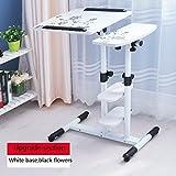 ERRU - Laptop-Tisch 360º drehende Laptop-Tabellen-justierbare Höhe-Haus-fauler beweglicher Nachtbuch-Schreibtisch (Farbe wahlweise freigestellt, 62 * 40 * 62 ~ 95cm) Notebook-Computertische ( Farbe : White+black )