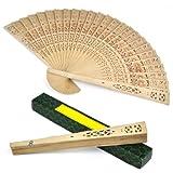 SODIAL (R) Ventaglio in legno Sandalo da donna nozze / Compleanni feste