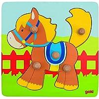 Goki - Puzzle encaje con caballo, 5 piezas, de madera (Gollnest & Kiesel 57555.0) - Peluches y Puzzles precios baratos