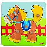 Goki 57555 - Steckpuzzle - Pferd