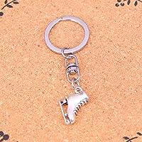 JJCDKL Fashion Jewelry Accessories Silver Pendant ski boots Keychain Key Ring For Women Men Gifts Key Chain