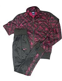 Nike Polyknit Cuffed TS AOP - Chándal para mujer, color fucsia/negro, talla XS