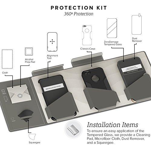 iPhone 5 5s SE Hülle, (Schwarz, Grau) SaharaCase Schutz Kit Paket mit Null Schaden [ZeroDamage gehärtetes Glas Bildschirmschutz] Robuster Schutz Anti-Rutsch-Griffigkeit [Stoß sicherer Puffer] Schlanke Rosa