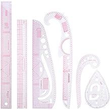 Matefield 6pcs / set DIY multifunción acolchar costura costura patchwork dibujo reglas