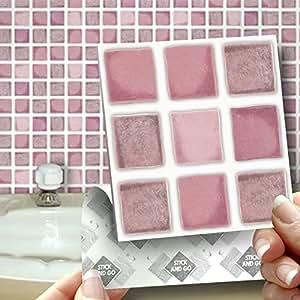 18 rosa antico effetto parete piastrelle 2 mm di - Piastrelle spessore 2 mm ...
