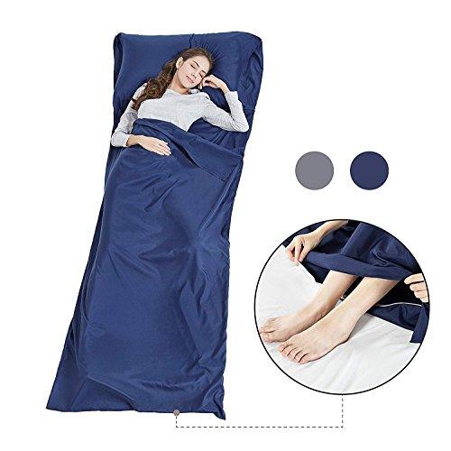 Seta morbida per sacco a pelo con zip–lenzuolo da viaggio leggero campeggio sonno bag prevenire dirty on business hotel, 90 * 220cm