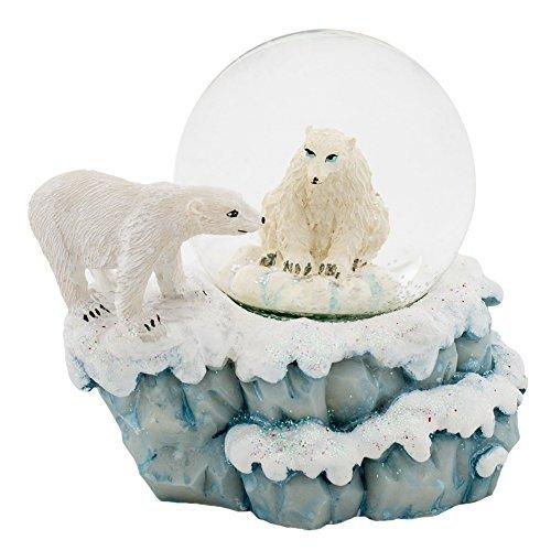 Eisbären 3x 3Miniatur Kunstharz 45mm Water Globe Tisch Top Figur -