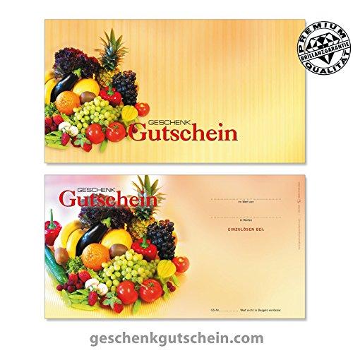 """100 Stk. Gutscheinkarten """"Standard"""" für Obst- und Gemüsehändler OG1201, LIEFERZEIT 2 bis 4 Werktage !"""