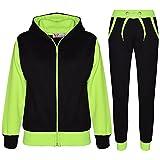 A2Z 4 Kids® Kinder Trainingsanzug Mädchen Jungen Designer Plain Kontrast - T.S Plain 101 Neon Green 7-8