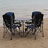 KFXL yizi Klapptisch und Stuhl Set selbstfahrende Tour von Wilden Liegestühlen im Freien Freizeit Möbel Set 4 Stühle 1 Tabelle 2 Farbe Optional (Farbe : A)